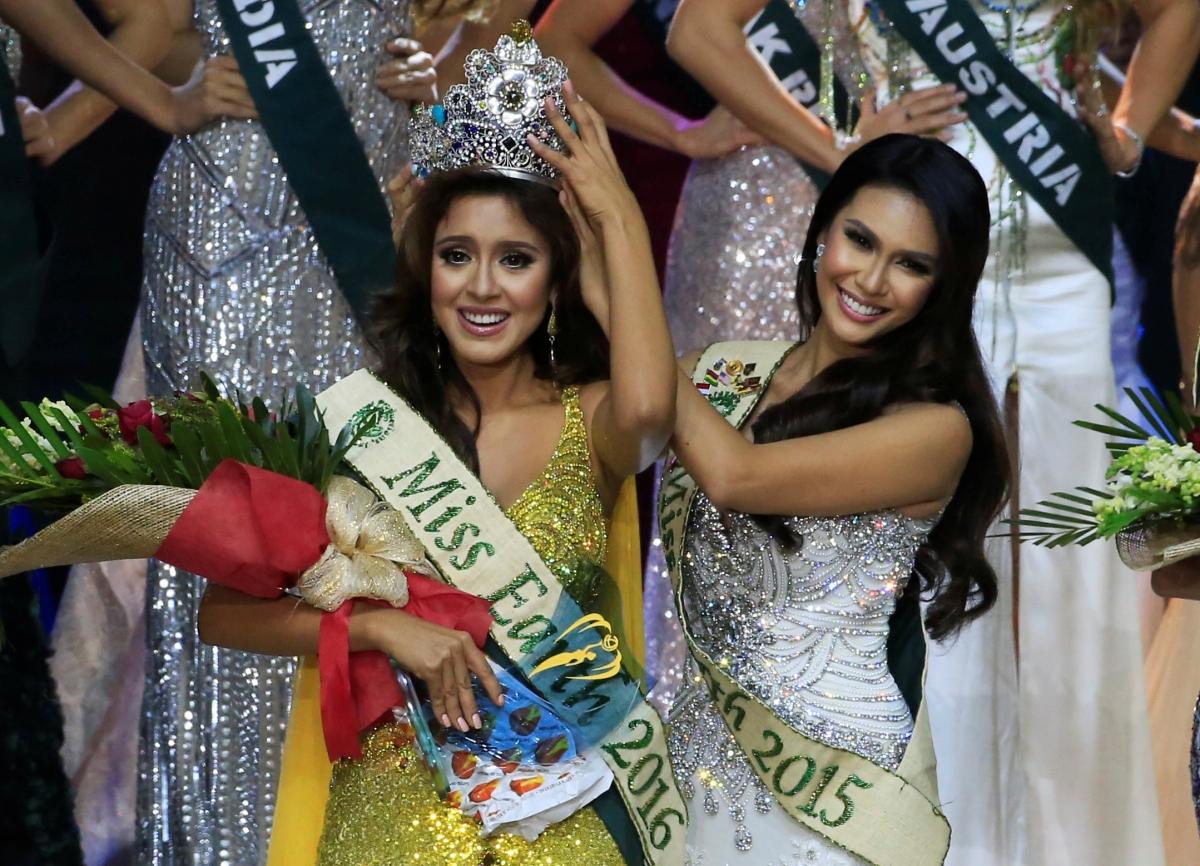 Katherine Espín Gómez crowned as Miss Earth Ecuador 2016