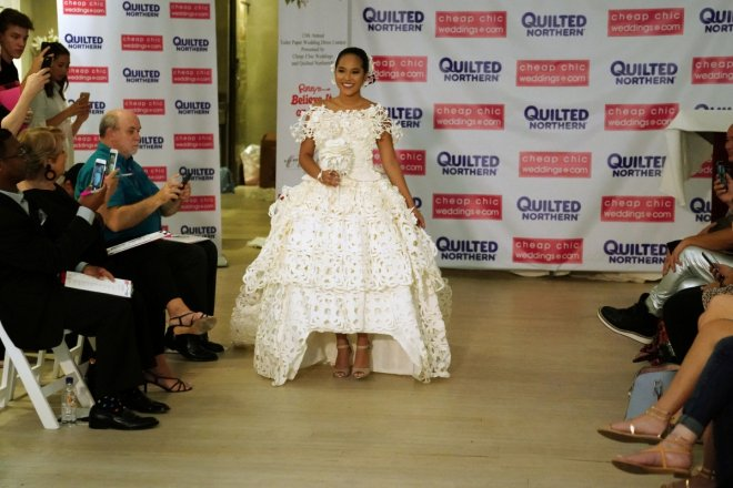 Toilet paper dress