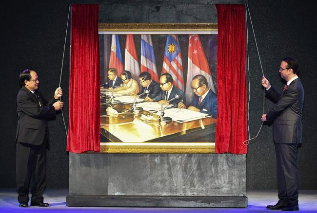 Painting for ASEAN Golden Jubilee