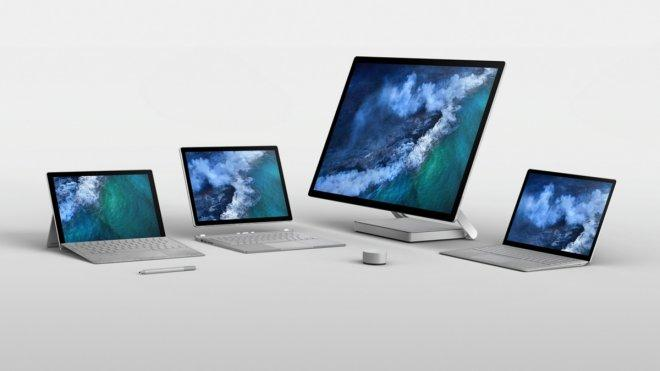 surface laptops and tablets