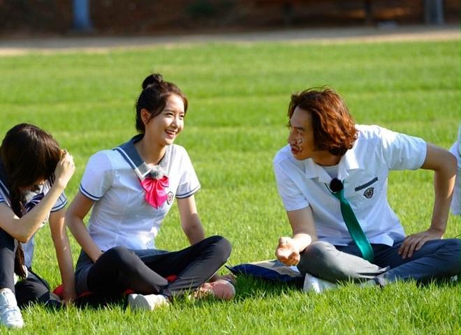 YoonA & Lee Kwang-soo.