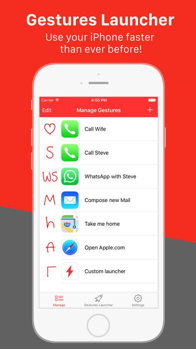 gestures launcher app for ios