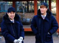 HaHa and Kim Jong-kook