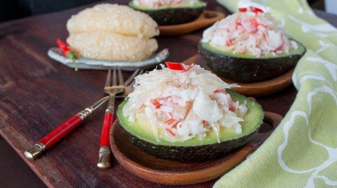 Thai Pomelo Crab Avocado salad