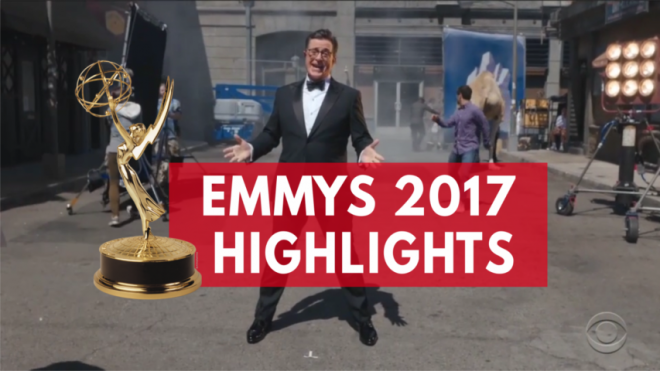 Highlights of the 2017 Emmys: From Sean Spicers appearance to a naked Stephen Colbert