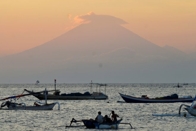 Mount Agung in Bali, Indonesia