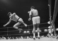 World boxing heavyweight champion Muhammad Ali of the U.S. fights against Japanese pro-wrestler