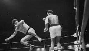 World boxing heavyweight champion Muhammad Ali of the U.S. fights against Japanese pro-wrestler