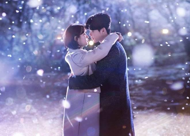Suzy and Lee Jong Suk in the poster for 'While You Were Sleeping'