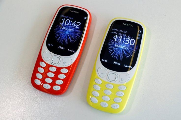 The Nokia 3310 is seen in an office in London