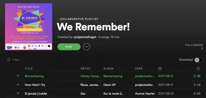 We Remember ! Festival