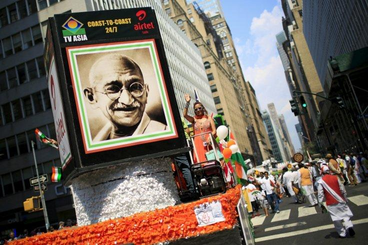 People take part in the 35th India Day Parade in New York