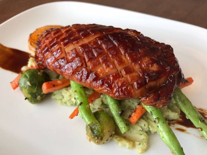 Smoked and baked duck