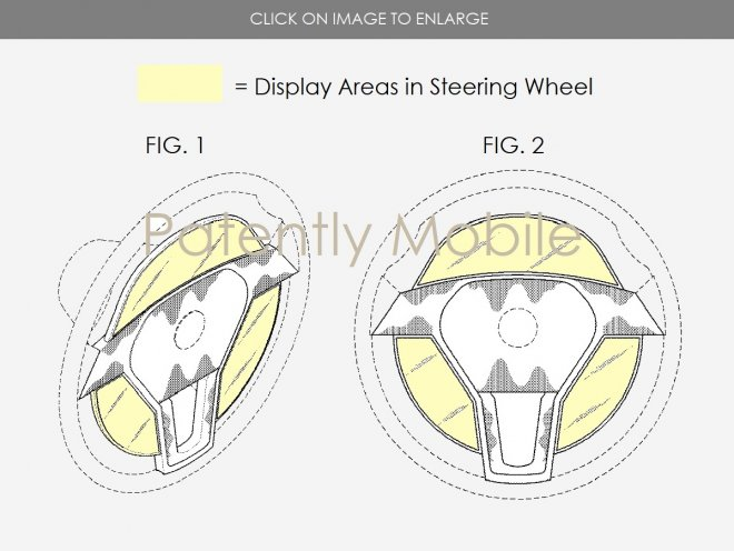 samsung patents steering wheel with display
