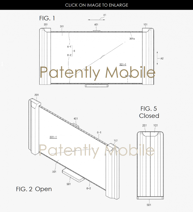 samsung patents scrollable tv or computer