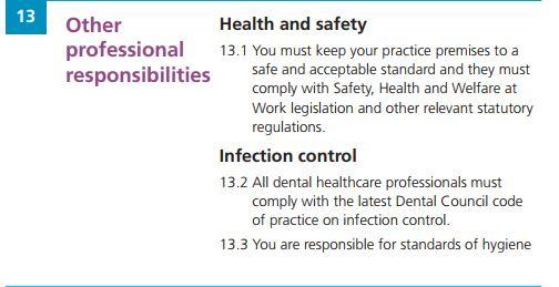 Dental Council Code of Ethics