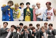 BTS and Wanna One