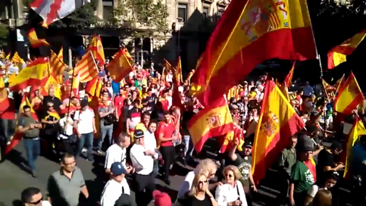 Thousands rally against Catalan independence in Barcelona