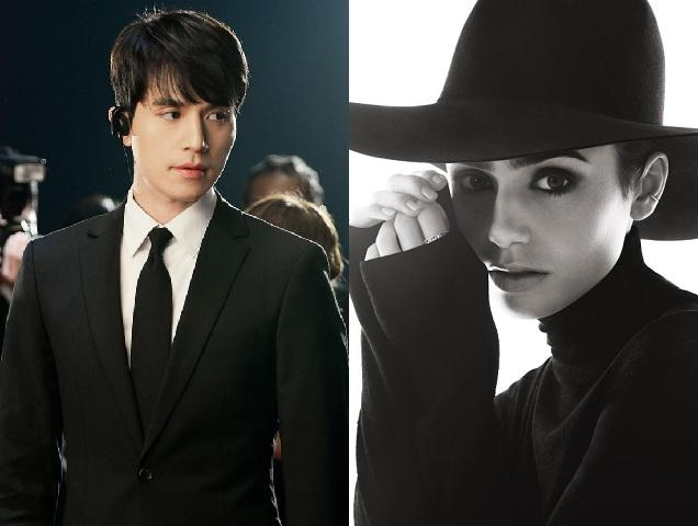Lee Dong-wook and Lily Collins