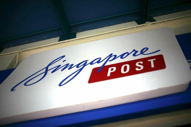 The Singapore Post sign at a post office in Singapore November 2, 2015.