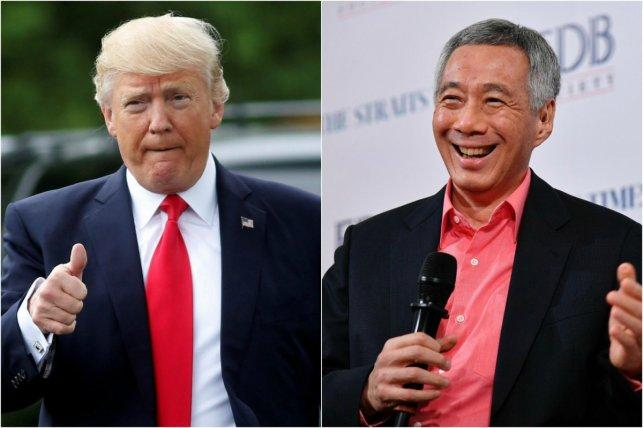 US President Donald Trump and PM Lee Hsien Loong