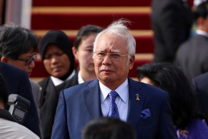 Malaysian Prime Minister Najib Razak arrives at the Beijing Capital International Aiport