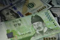 South Korean won declines