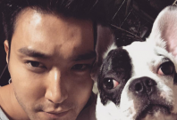 Choi Siwon and his dog Bugsy