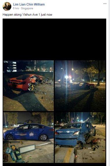 Accident on Yishun Avenue 1