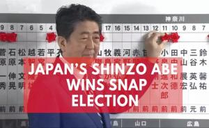 Japans Prime Minister Shinzo Abe clinches landslide victory in snap election