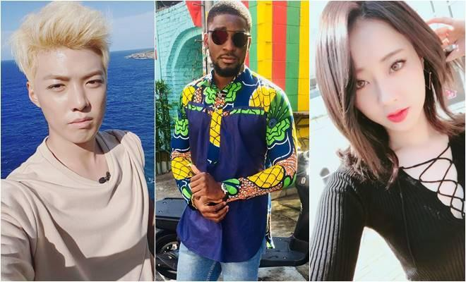 (From left) Kangnam, Sam Okyere and Kyungri