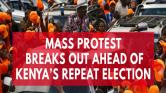 Kenyas election rerun causes mass protest one day prior to vote