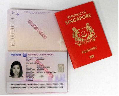 Biometric passport of Singapore