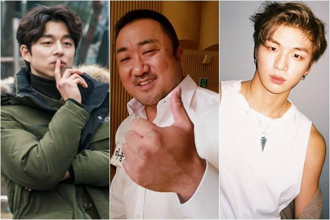 (From left) Gong Yoo, Ma Dong Seok and Wanna One's Kang Daniel