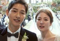 Song Joong-ki and Song Hye-kyo wedding dress