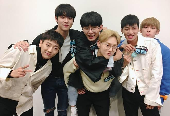 Noh Tae Hyun (extreme left) with fellow JBJ members