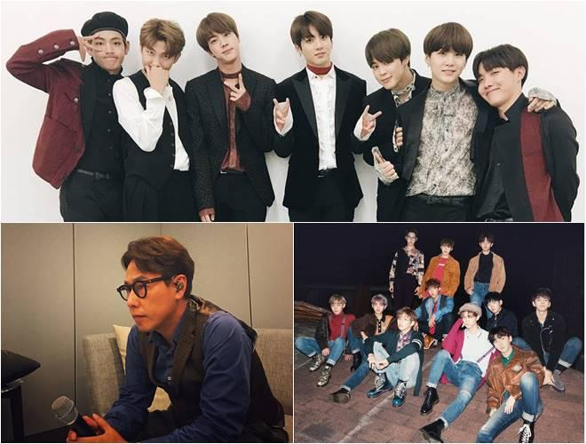 Clockwise from top) BTS, Wanna One and Yoon Jong Shin
