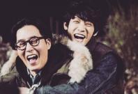 Jung Joon Young (back) and Kim Joo Hyuk on '2 Days & 1 Night'