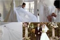 Dior's wedding dress and couple Song Joong-ki and Song Hye Kyo on their wedding day