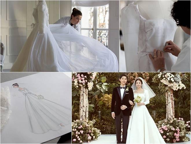 Dior unveils design of Song Hye Kyo\'s stunning wedding dress