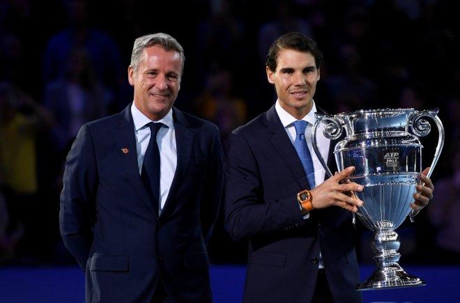 Rafael Nadal and Chris Kermode in London
