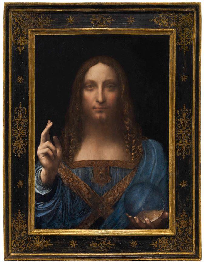 Leonardo da Vinci (1452-1519), Salvator Mundi, painted circa 1500. 25â…ž x 18 in (65.7 x 45.7 cm). Sold for $450,312,500 in the Post-War & Contemporary Art Evening Sale on 15 November 2017 at Christie's in New York
