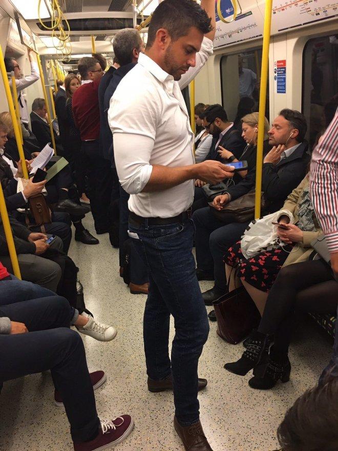 Women Clicking Photos Of Handsome Men In Public Transport