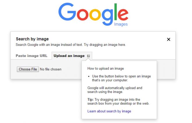 Google image search desktop