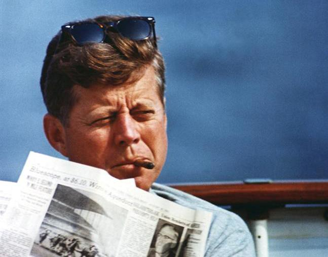 President John F. Kennedy in an undated photograph