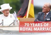 Queen Elizabeth II celebrates 70th wedding anniversary with Prince Philip