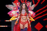Alessandra Ambrosio presents a creation during the 2017 Victoria's Secret Fashion Show in Shanghai, China