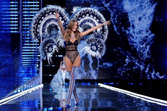 Josephine Skriver presents a creation during the 2017 Victoria's Secret Fashion Show in Shanghai