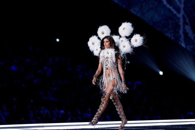 Sara Sampaio presents a creation during the 2017 Victoria's Secret Fashion Show in Shanghai