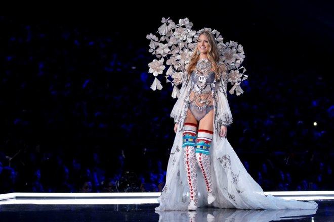 Martha Hunt presents a creation during the 2017 Victoria's Secret Fashion Show in Shanghai
